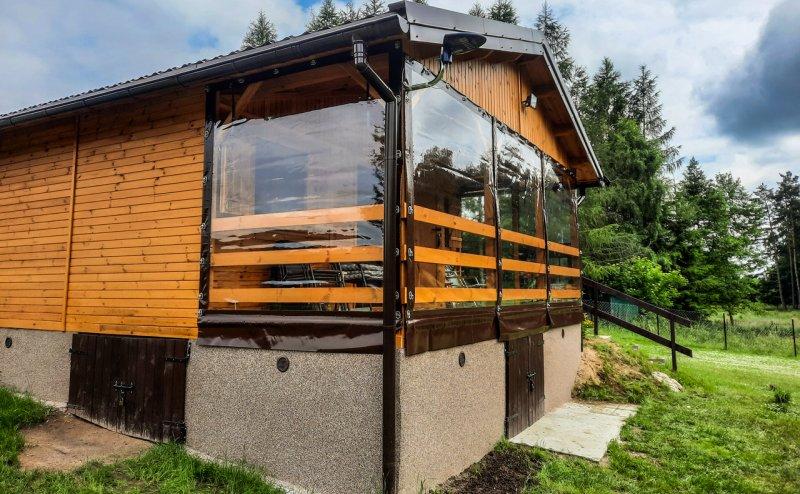Folie okienne na tarasie w Bartołach Wielkich Bartoły Wielkie №281144