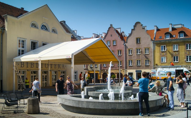 Zadaszenie nad sceną na starym mieście w Olsztynie Olsztyn №280991